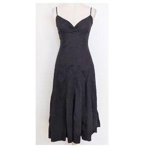 ELIE TAHARI Black Midi Dress Size 6